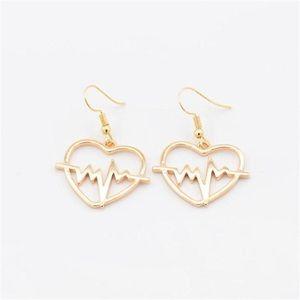 Women's Heartbeat dangle drop earrings